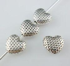 12Pcs tibetano plata corazón Círculo espaciador granos encantos 19.5x20.5mm Marco