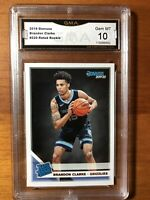 2019-20 Panini Donruss Brandon Clarke RC GEM Mint 10 Memphis Grizzlies