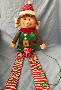 Stuffed Sitting Elf Christmas Advent Calendar