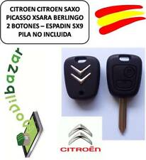 KEY HOUSING CITROEN SX9 C1 C2 C3 C4 XSARA SAXO PICASSO COMMAND DOS BUTTONS