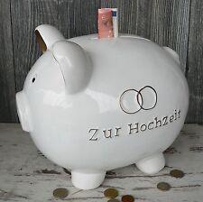 Riesen Monster Sparschwein zur Hochzeit 30cm Spardose Geldgeschenk Kuvert XXL