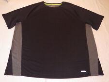 Tek Gear Performance Short Sleeve T-Shirt DryTek Top Tee Big&Tall Gray & Black**