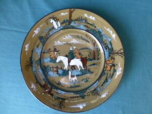 Antique Deldare Ware Buffalo Pottery 1908 The Fallowfield Hunt Plate