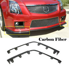 Carbon Front Bumper Lip Splitter Flaps Body kit For Cadillac CTS-V 2009-2015