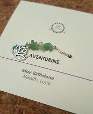 Minimalist Green Aventurine Gemstone anklet Yoga  Jewellery May Birthstone