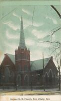 New Albany Indiana~German Methodist Epsicopal Church~1910 Postcard