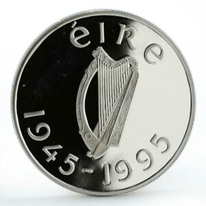 Ireland 1 pound 50th Anniversary of United Nations Flying Dove silver coin 1995