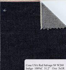 Denim Fabric wholesale  Denim Kaihara USA  Mill 100% Cotton Red Selvage Denim
