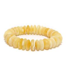 Unique Genuine Baltic Amber Bracelet Butter Stretch Unpolished