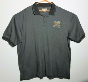 Mens Dale Earnhardt 2003 National Corvette Museum Legends Tour XXL Polo Black