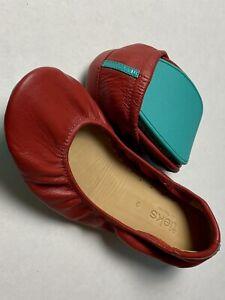 Tieks Cardinal Red Ballet Flats Size 9