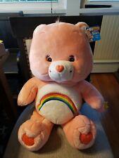 "Vintage 2004 Large 26"" Cheer Care Bear Plush Stuffed Animal Original Tags"