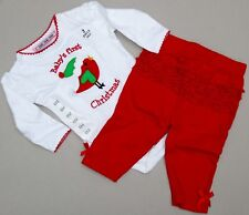 Ho-Ho-Ho Baby's First Christmas 2-Piece Romper Set Size 6M - New (2 available)