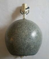 Mid Century Modern Atomic Orb Ceramic Table Lamp Gray
