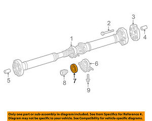 MERCEDES OEM 10-16 E350 Rear-Center Bearing 0089814325