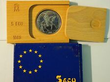 SPAIN SPAGNA ARGENTO 1989 KING CHARLES 5 ECU .925 SILVER FDC UNC CON GARANZIA