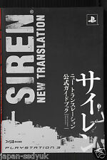 JAPAN Siren Blood Curse New Translation Official Guide Book