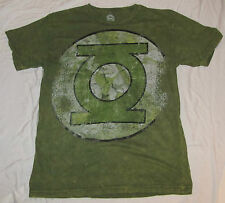 LARGE DC COMICS MENS T-SHIRT GREEN LANTERN JUSTICE LEAGUE LOGO SUPERHERO TEE!