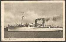 S.S Flandria Hollandsche Lloyd Amsterdam Postcard