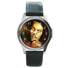 Bob Marley Jamaican Reggae Singer Artist Unisex Analog Leather Wrist Watches