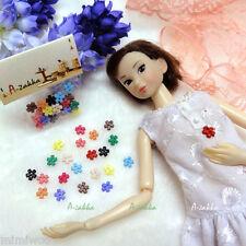 Bjd Dollfie Doll Dress DIY Material Tiny Button Flower 6.5mm Mix Color (22pcs)