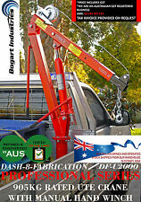 GENUINE DASH-8-FAB UTE SWIVEL CRANE WITH HAND WINCH, LOCKABLE 360 DEGREE SPIN