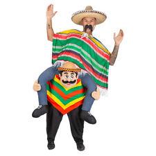 Portez-Moi Mexicain Mec Costume Déguisement Poncho Sombrero Adulte Mascotte