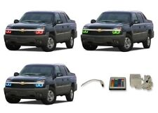 for Chevrolet Avalanche 03-06 RGB Multi Color IR LED Halo kit for Headlights