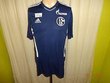 "FC Schalke 04 Original Adidas Spieler Training Trikot 2010/11 ""GAZPROM"" Gr.M"