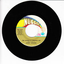 BOBBY BRIDGER The World Is Turning On VG+ 45 RPM