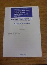 09/03/1995 Oldham Athletic reservas V Port Vale reservas (cuatro páginas). estamos