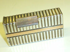 "French SOLID SILVER Jewellers ""CARTIER""? Lighter W. ORO STRIPES - 1940-RARE"