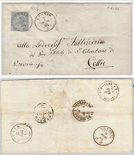 ITALIA REGNO: storia postale - Sassone L18 ben centrato su BUSTA da GROSIO 1864
