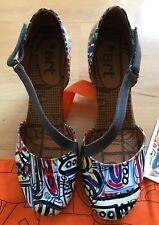 Size 42 (9) The Art Company Blue Multicoloured Mary Jane Shoes Bnwob