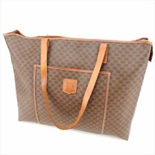 Celine Tote bag Macadam Brown PVC Leather Woman unisex Authentic Used T8788