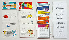 Monopoly 1999 Pokemon COLLECTOR'S EDITION REPLACEMENT DEED CHANCE CHEST CARDS