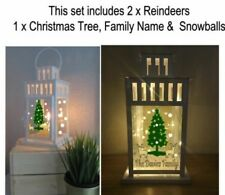 Christmas Sticker for Lantern Personalised with Name - Christmas Lantern sticker