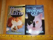 Marian Babson  2 PaperBack's Paws for Alarm + The Diamond Cat 1st Edition