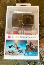 Yi Lite Action Camera 1080p/60fps, 4K/15fps + Custodia Impermeabile Nero Set
