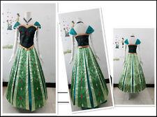 Frozen Snow Queen Anna Cosplay Costume coronation Dress