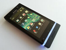 "SONY XPERIA U TOP-4GB-BLACK-3,5""-EXTRAS-5.0MP-KEIN SIMLOCK-12 MONATE GEWÄHRL."