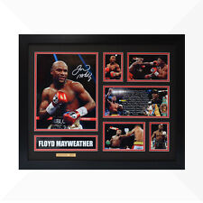 Floyd Mayweather Signed & Framed Memorabilia - Black/Red Limited Edition