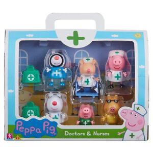 Peppa Pig Figures Doctors & Nurses 6 Figure Pack Mandy Mouse Bags 07360 Ages 3+