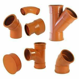 110mm 4 inch underground drainage sewer soil pipe storm fittings FREE DELIVERY