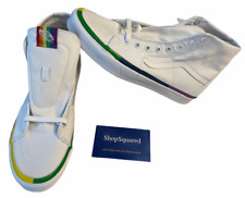 Vans Sk8-Hi Tapered (Rainbow Foxing) White Canvas Pride Men's Size 10 New 🔥