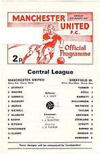 1978/9 Man Utd V Sheff mercoledì programma di riserva