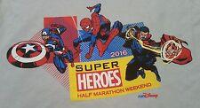 Medium Marvel Comics Super Heroes Half Marathon Weekend 2016 T-shirt Run Disney