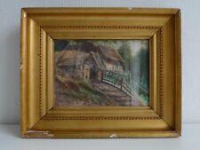 Knud Erik Larsen (Danish 1865-1922) petite maison dans les bois-Qualité pleine Aquarelle