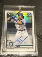 🔥⚾️🔥 2020 Bowman Chrome Kyle Lewis S# SP Rookie On Card Auto 178/499 🔥⚾️🔥