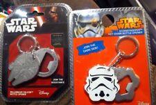 2 Star Wars Metal Millennium Falcon Stormtrooper Beer Bottle Opener key Chains